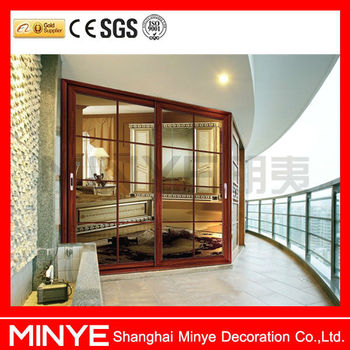 Hotel design aluminum glass sliding exterior door for sale for Exterior sliding glass doors for sale