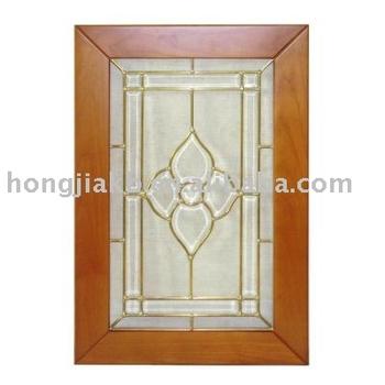 Cherry kitchen cabinet glass door hjgk 02 buy frosted for Cherry kitchen cabinets with glass doors