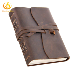Custom Handmade Genuine Leather Travel Journal Vintage Leather Bound Writing Notebook