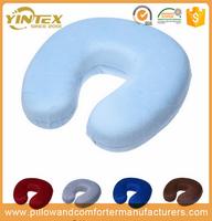 Soft Plush custom massage health care air car travel u shape headrest memory foam neck travel pillow