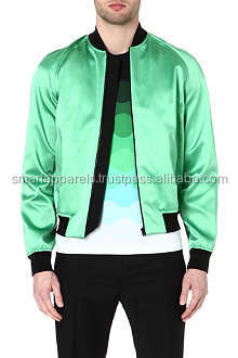 Hot Sale Cheap Price Pink Satin Bomber Jackets Fashion men Plain Ladies Coats Zip Up Winter Clothes