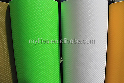 Professional Texture Vinyl Wrap Sticker Decal Film Sheet 4D Green Carbon fiber vinyl