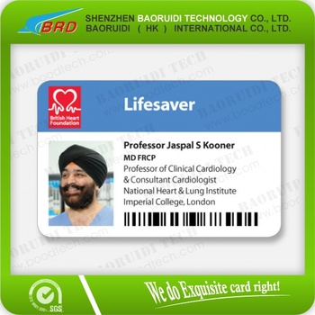 Good Quality Portrait Printing Plastic Voter Id Card
