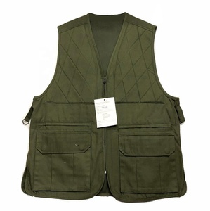 Pure color cotton outdoor vest spliced padding