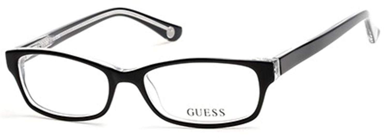 4802c2da1c5 Get Quotations · Eyeglasses Guess GU 2517 GU2517 003 black crystal