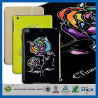 C&T Sublimation foldable smart pu leather mobile phone case for ipad mini
