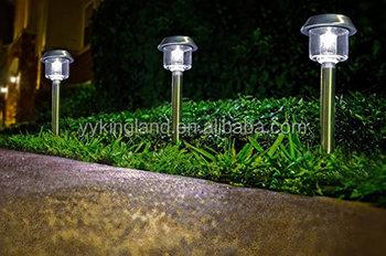 KINGLAND Solar Garden Lamp Solar Lawn Light Outdoor Light Stainless Steel  Light For Garden