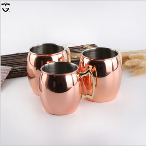 Manufacturer Hot-sell OEM with Handle Coffee Cup Plated Stainless Steel Beer Drinking Moscow Mule Copper Mug