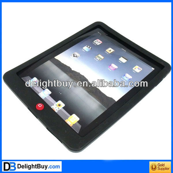 Silicone Back Case Skin Cover for Apple iPad (black Spider Net)