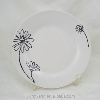Cheap Chinese ceramic black circle plate dishe/restaurant serving plate microwave safe & Cheap Chinese Ceramic Black Circle Plate Dishe/restaurant Serving ...