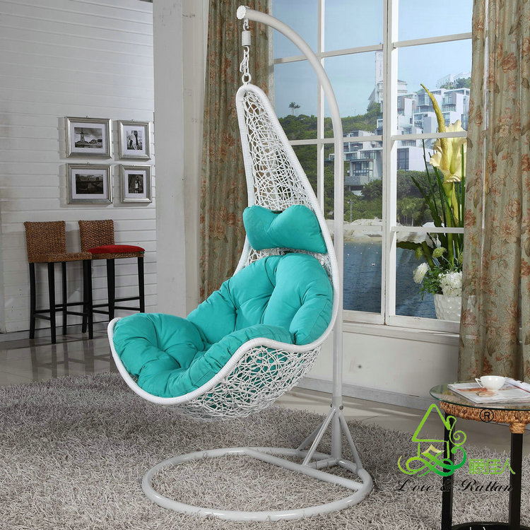wei kaffee kunststoff rattan metall stand patio m bel schaukel ei h ngesessel schwingen im hof. Black Bedroom Furniture Sets. Home Design Ideas