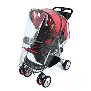 New Baby Stroller Rain Cover Transparent Kid Car Raincoat Universal Wind Shield Fit Pushchair Stroller Accessories