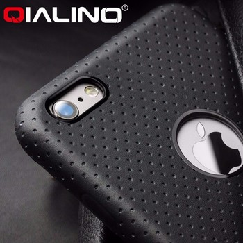 Qialino Top Quality Pure Handmade Genuine Leather Case Cover For