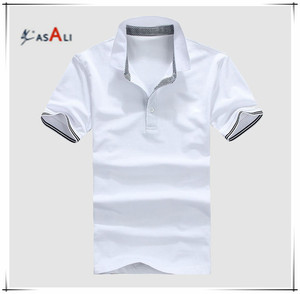 2016 men solid color bulk sale polo shirt with made in china