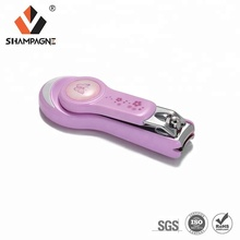 Small Carbon Steel Baby Nail Safety Clipper Cutter with Plastic Catcher