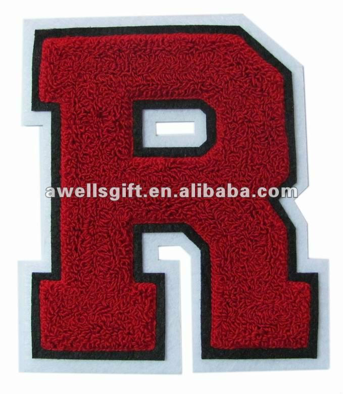 chenille patch letters r for varsity letterman jacket buy chenille patch letters r for varsity letterman jacketcustom chenille patchchenille