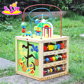 Best Design Big Educational Wooden Activity Cube For Toddlers W11b127 View Activity Cube Esa Activity Cube Product Details From Wenzhou Times