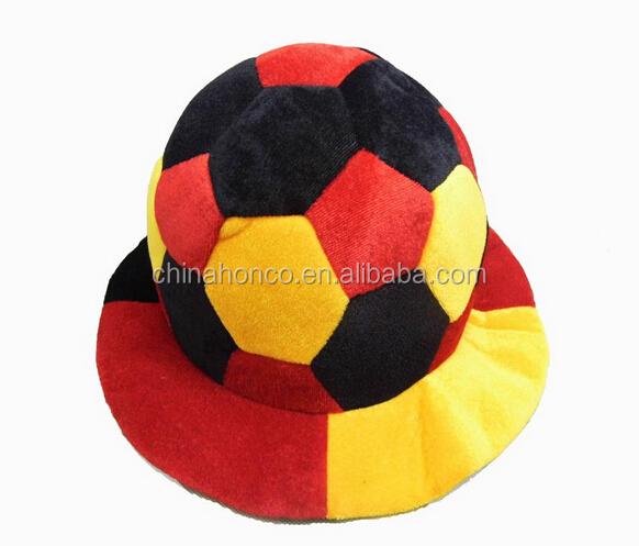 0fc10a62068 Dense Velvet Germany Soccer Ball Shape Fan Hat For Wm 2018 Year ...