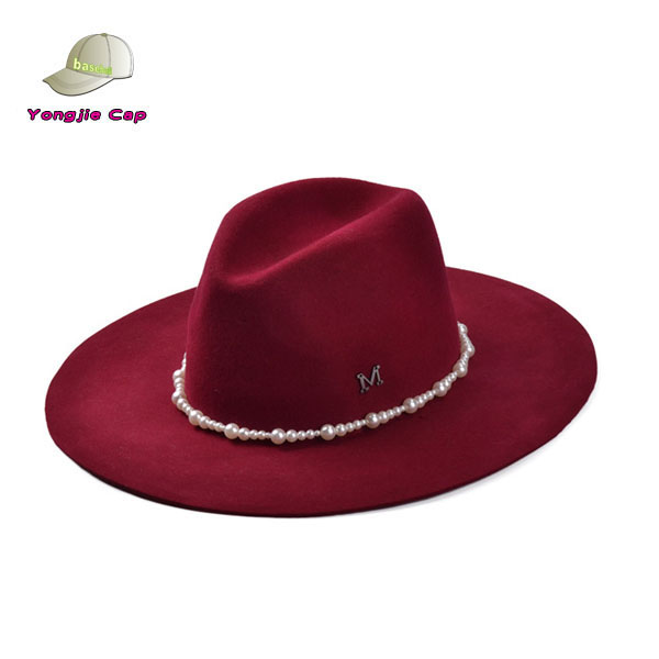 Top quality Hot Vintage Lady Women Wide Brim Bowler Fedora Wool Felt Hat Floppy Cloche Cap