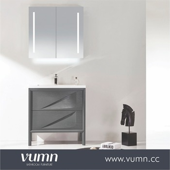yato solid wood target movable bathroom cabinet vanity