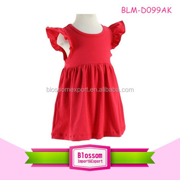 Trendy baby dress girls children Flutter Sleeve dress frocks designs kids kurtis for girls