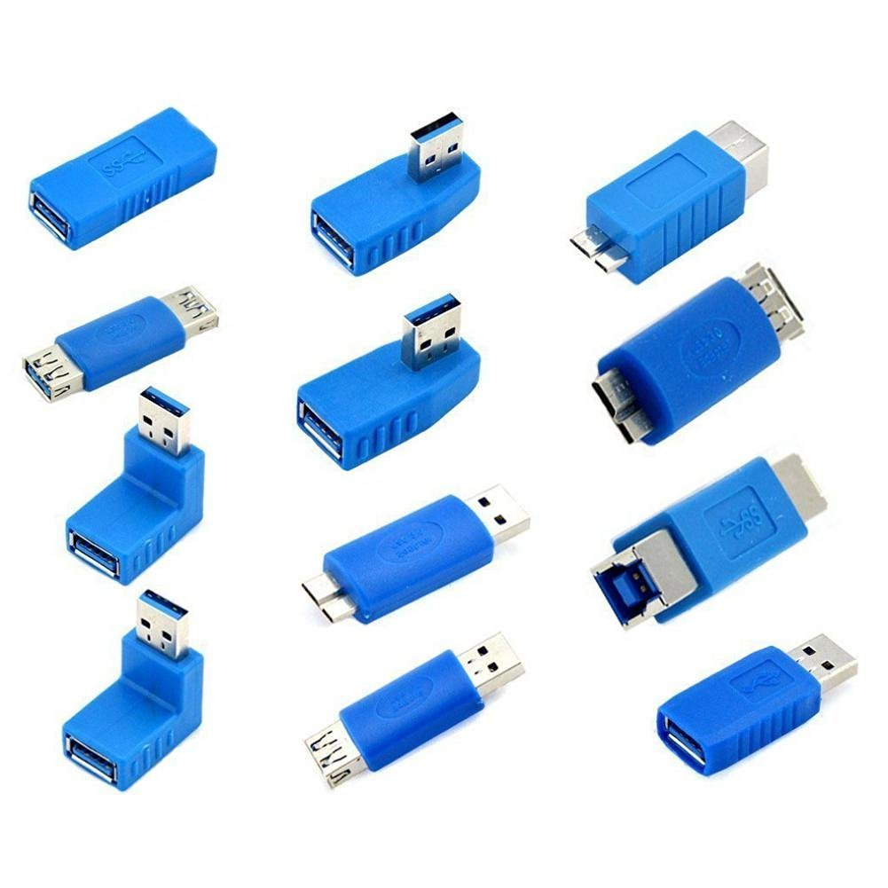 Supplylink 12pcs/Set F/M USB3.0 Male to Female Micro USB Mini Changer Adapter Converter