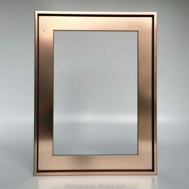 Bronze Color Aluminum Glass Door Metal Frame For Kitchen Cabinet Glass Doors