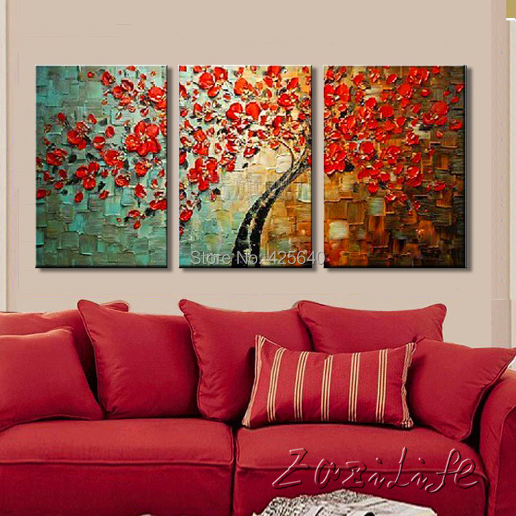 buy oil painting on canvas wall paintings for living room multi 3 piece panel. Black Bedroom Furniture Sets. Home Design Ideas