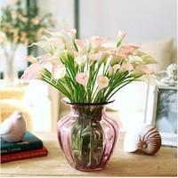 SS flowers arrangement calla lily decorative handmade artificial flower making