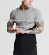 5% Elastane 95% Cotton Mens Gym T Shirt Longline Curved Hem T Shirt Blank 2 Tone Raglan Short Sleeve T Shirt