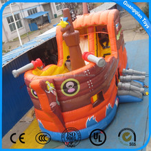 Guangqian 2017 Hot Selling Small Inflatable Pirates Ship With Slide For Sale