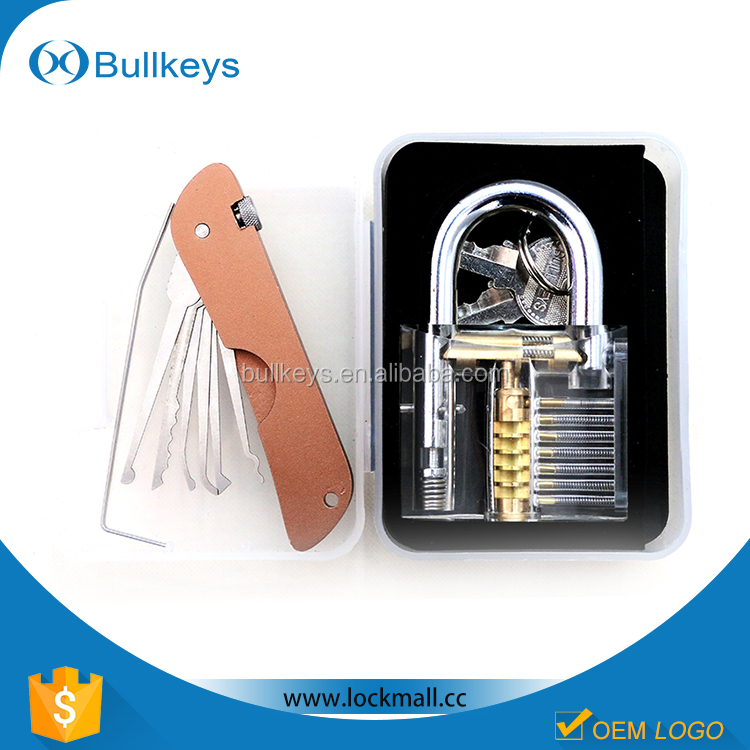 Good quality Factory promotional folding lock pick set for locksmith tool gift ideas for men BK10121