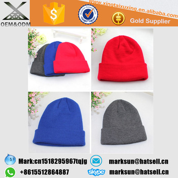 Plain Custom Beanie Hats Caps With Your Owm Logo Label Tags