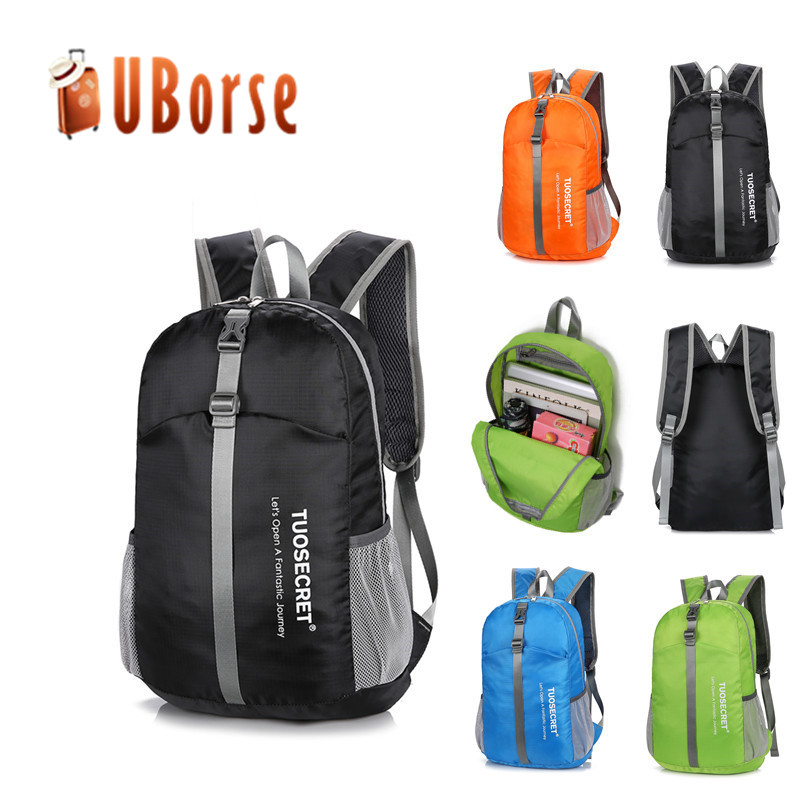 Manufacturers outdoor sports folding backpack waterproof lightweight foldable bagpack