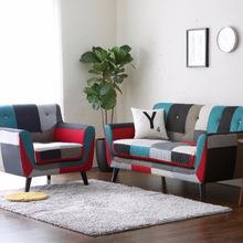 Arab living room wooden fabric sofa set furniture