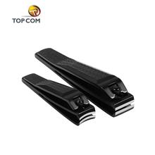 free sample nail clippers acrylic plated black nail cutter stainless steel nail clipper sharpening