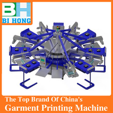low price 8 color automatict t shirt screen printing machine for sale