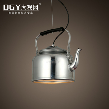 Industrial Hanging Lights Mini Chandeliers Loft Vintage Retro Teapot  Pendant Lamp