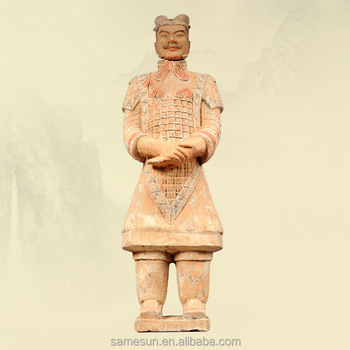 Meilun Life Size Terracotta Warriors Garden Decoration Chinese Qin History Sculpture Collection Manufacturer Hot Sale