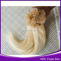 Buy Chinese Products Online From Kason Hair Double Drawn Curly Flat Tip Italy Keratin Hair Blonde Color