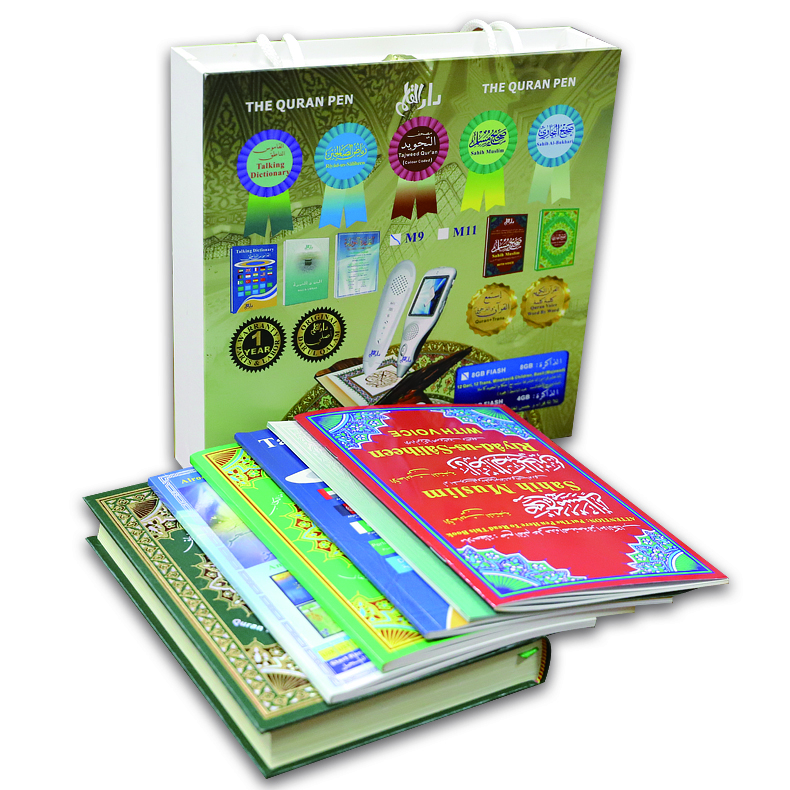 Al quran penna della lettura del quran on-line per il regalo islamico voice registrabili libro con magic pen for kids