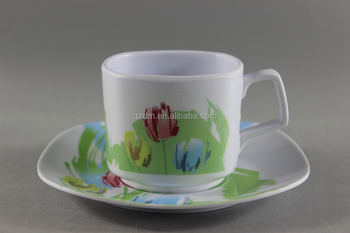 Square Shape Melamine Tea Cup And Saucer Sets Buy Square Plastic