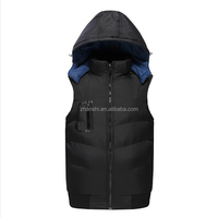 wholesale OEM design simple fashion man down jacket man quilted waistcoat winter sleeveless vest