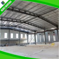 prefab light steel structure factory plant / workshop/ prefabricated warehouse light weight steel fabric storage shed