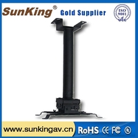 overhead projector ceiling mount/25 degrees rotation/iron material projector wall ceiling mount