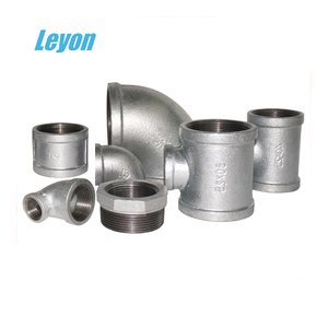 China malleable iron pipe plumbing fittings galvanized din standard 1/2 malleale iron fittings tee socket flange 90 degree elbow