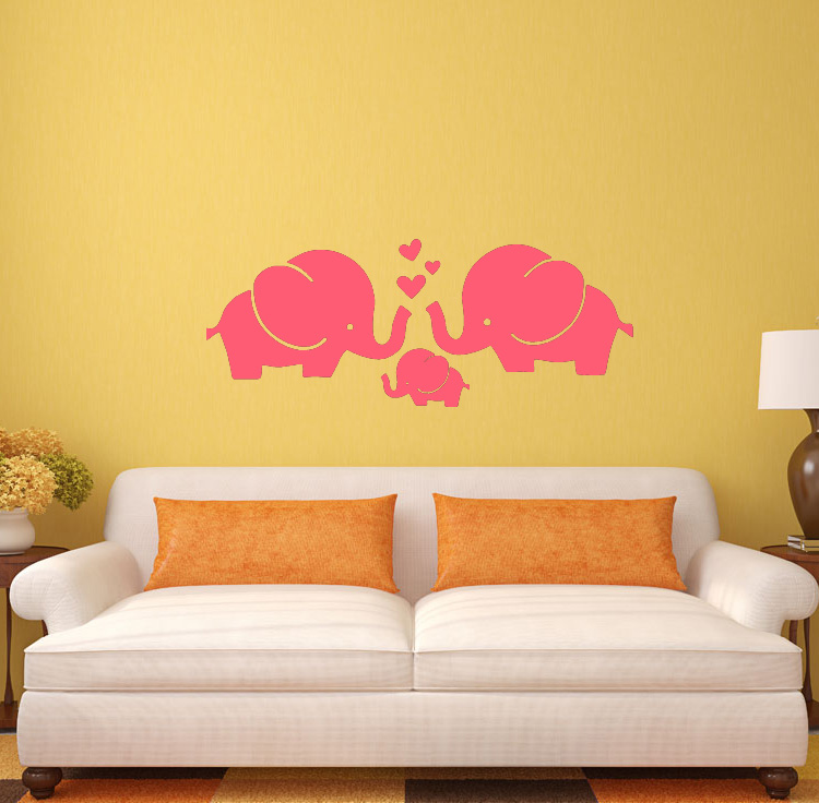 4029 Elephant wall stickers creative removable vinyl sticker home decoration kids room decal wall decals