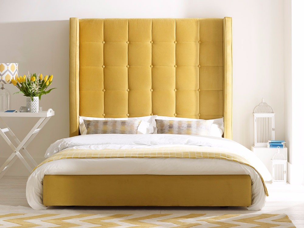 European style hotel bed modern bedroom furniture king size bedroom furniture with tall headboard