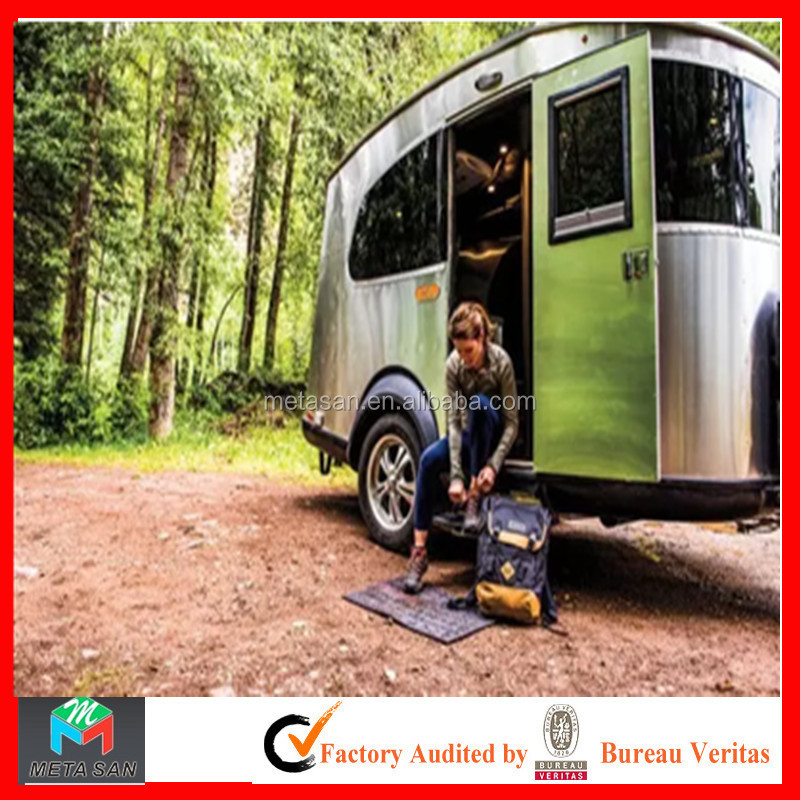 New type of aluminum alloy riveting technology mobile solar camping trailer