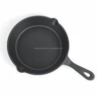 Pre-Seasoned Cast Iron Frying Pan Skillet 25cm. Heavy Duty, One Piece Forged Iron